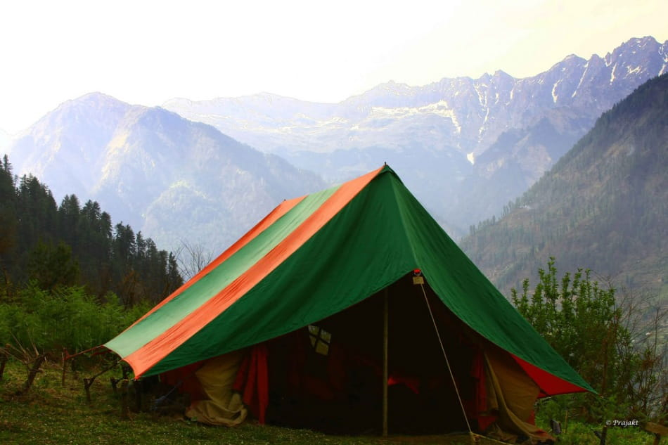 River Side Camping in Kasol