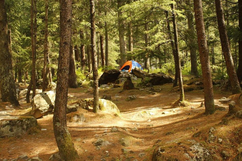 River Side Camping in Kasol